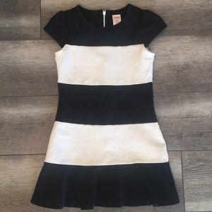 Black and White Striped Gymboree Dress
